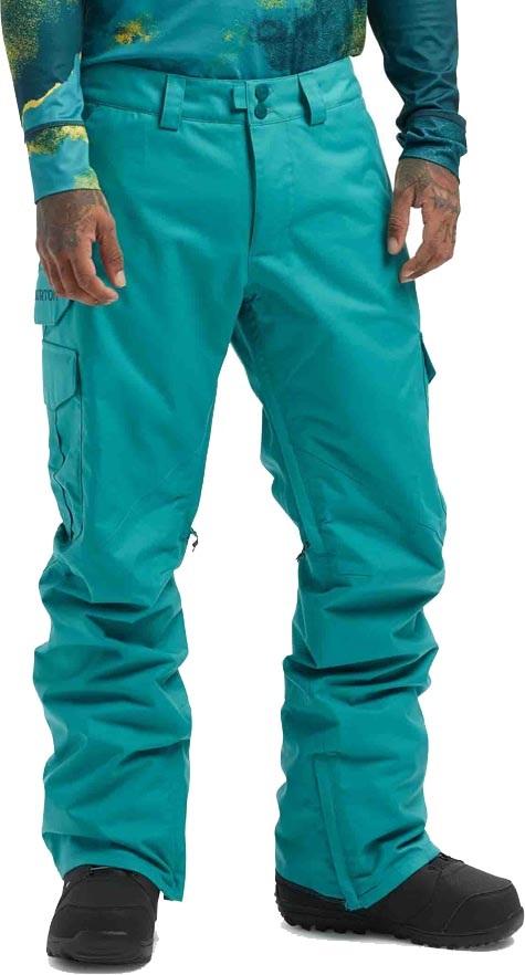 Burton Cargo Snowboard/Ski Pants, M Green/Blue Slate
