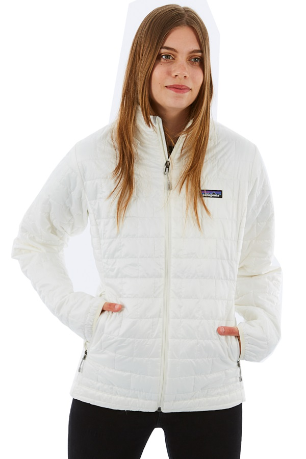 Patagonia Women's Nano Puff Insulated Jacket, L Birch White