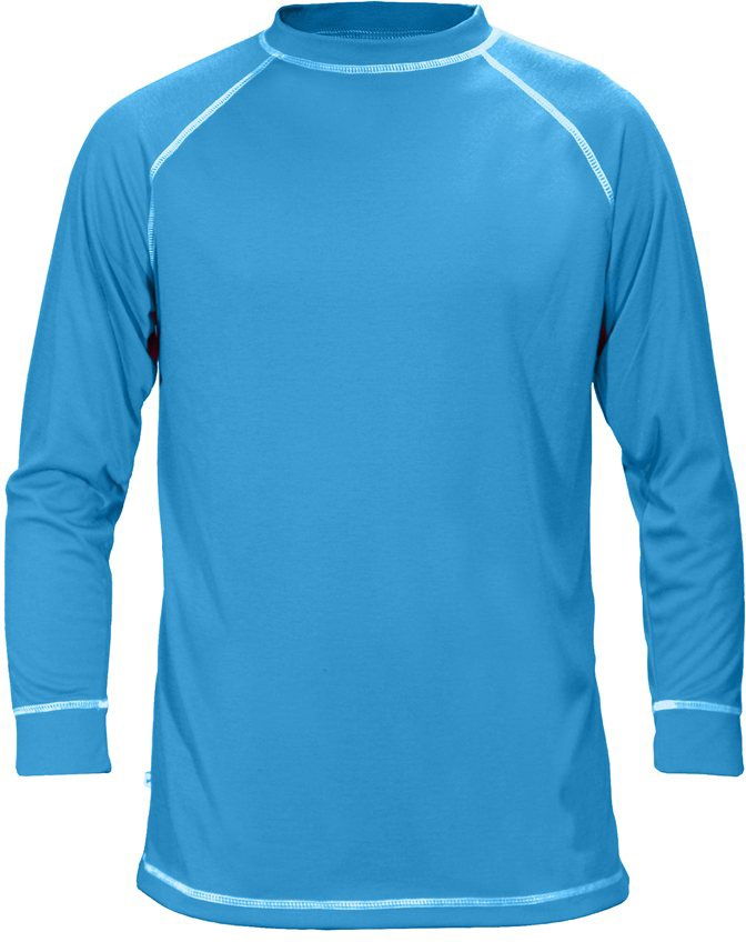 Manbi Kid's Supatherm Longsleeve Thermal Top, XXS 3-4yrs Electric Blue