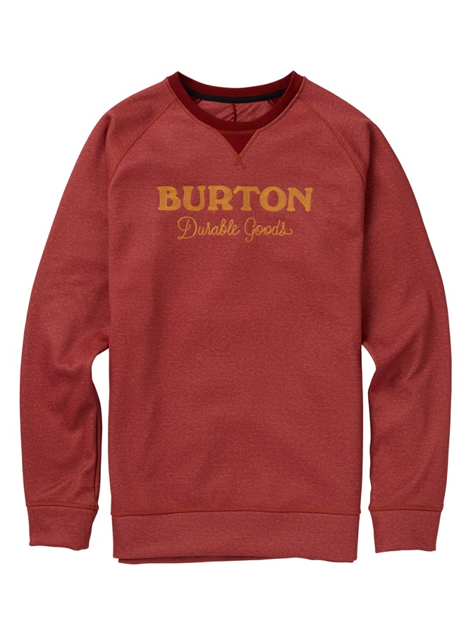 Burton Crown Bonded Crew Pullover Sweater, M Sparrow Heather