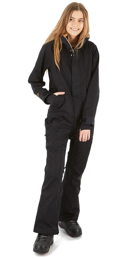 Airblaster Women's Freedom Ski/Snowboard One Piece Suit, S Black