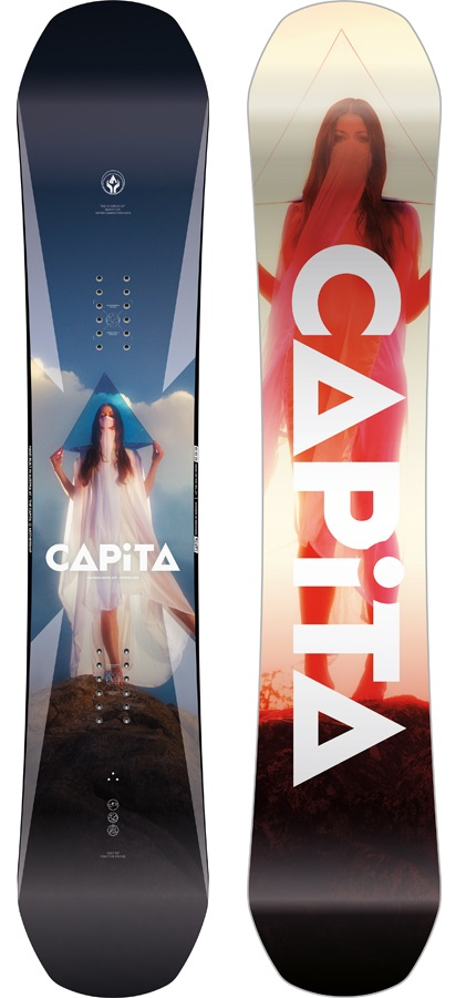 Capita DOA Hybrid Camber Snowboard, 148cm 2020
