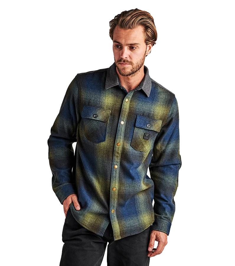 Roark Adult Unisex Nordsman Button Up Long Sleeve Shirt, XL Blue