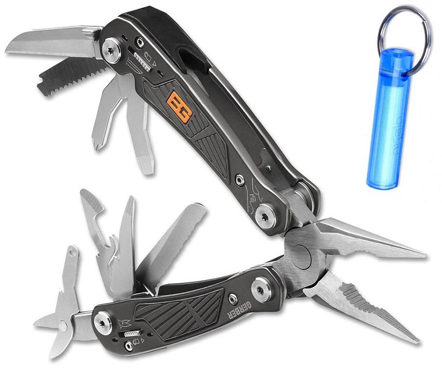 Gerber Ultimate Bear Grylls Pocket Tool + Free NiGlow, Dark Steel