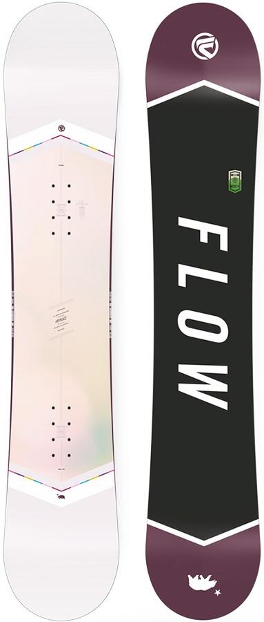 Flow Venus White Women's Hybrid Camber Snowboard, 155cm 2018