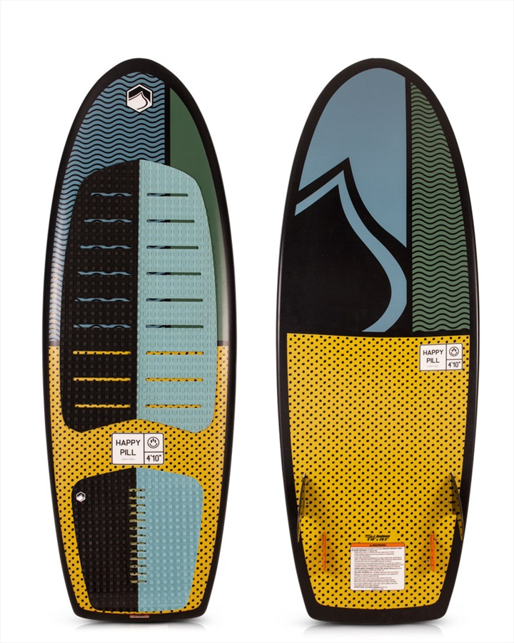 "Liquid Force Happy Pill Wakesurfer, 4'10"" Grey Yellow 2019"
