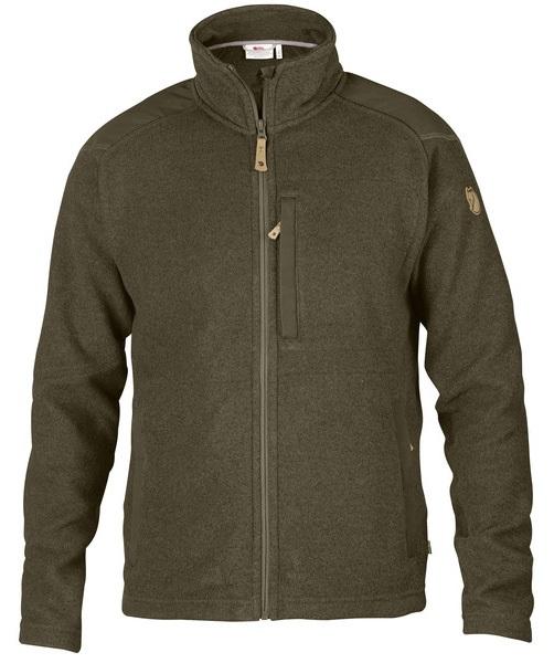 Fjällräven Buck Zip Up Knitted Fleece, L Dark Olive