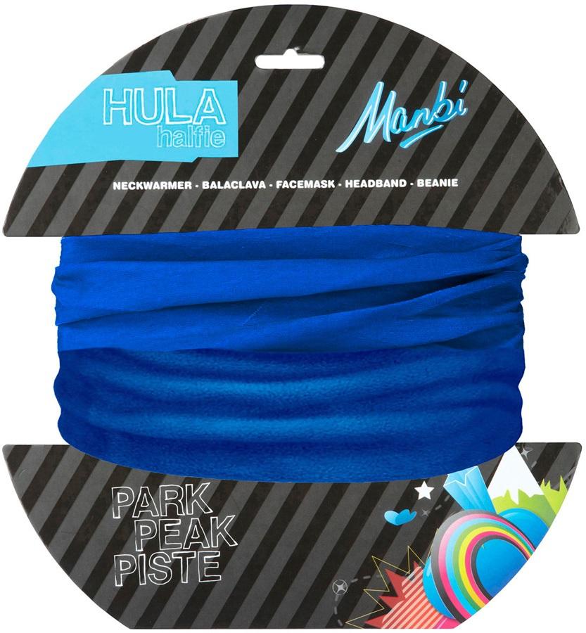Manbi Hula Halfie Plain Thermal Neck Tube, Kids Olympic Blue