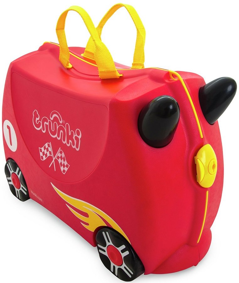 Trunki Rocco The Race Car Kid's Wheeled Hand Luggage, 18L Red