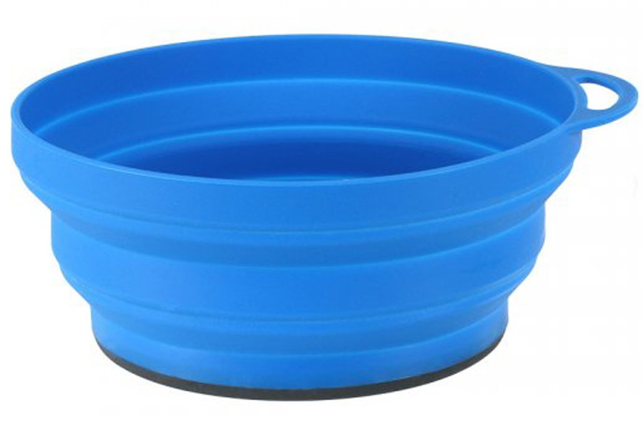 Lifeventure Ellipse Collapsible Bowl Compact Camping Dish, Blue