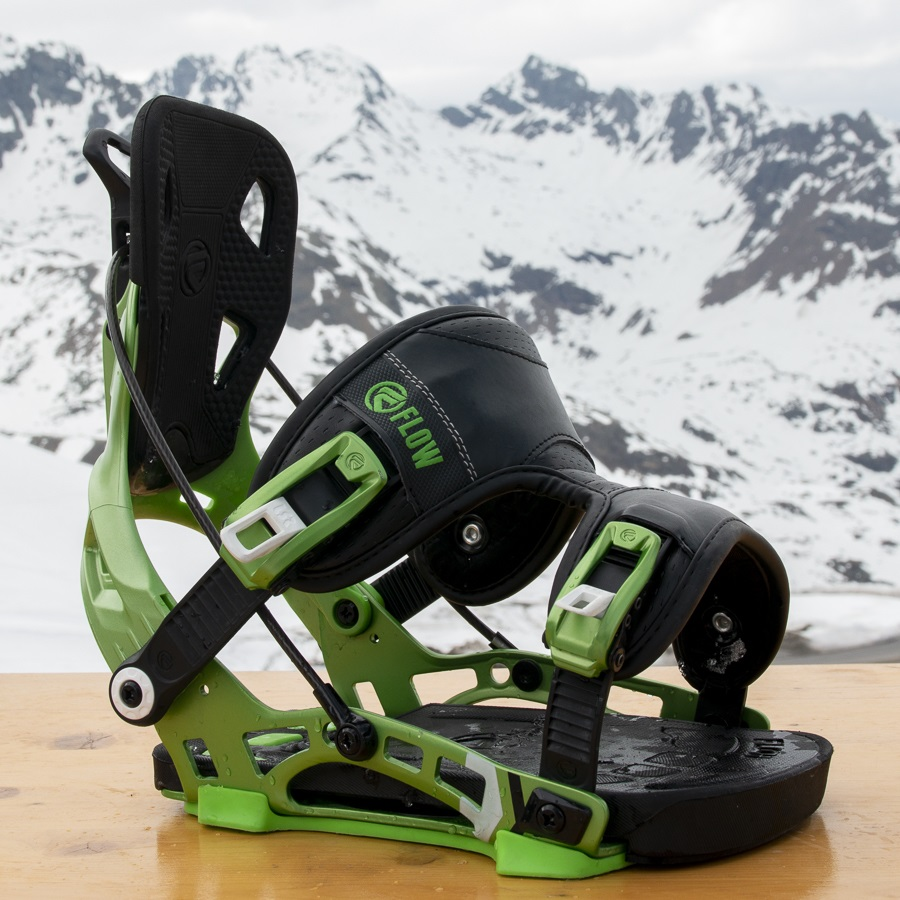 Flow NX2 Hybrid Step In Snowboard Bindings, L Green 2019