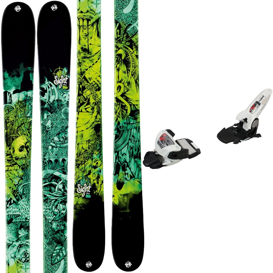 K2 Sight + Griffon Men's Twin Tip Skis + Bindings, 159cm, 2013