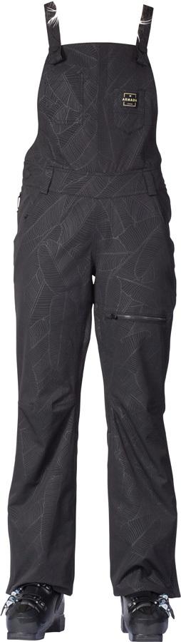 Armada Cassie Overall Women's Ski/Snowboard Bib Pants, S Black Banana
