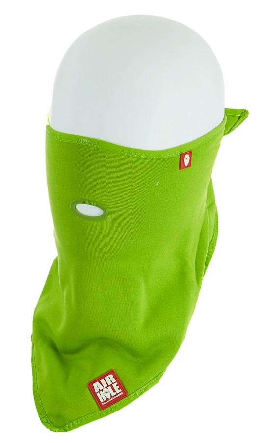 Airhole Standard Lite Polar Snowboard/Ski Face Mask, M/L Lime