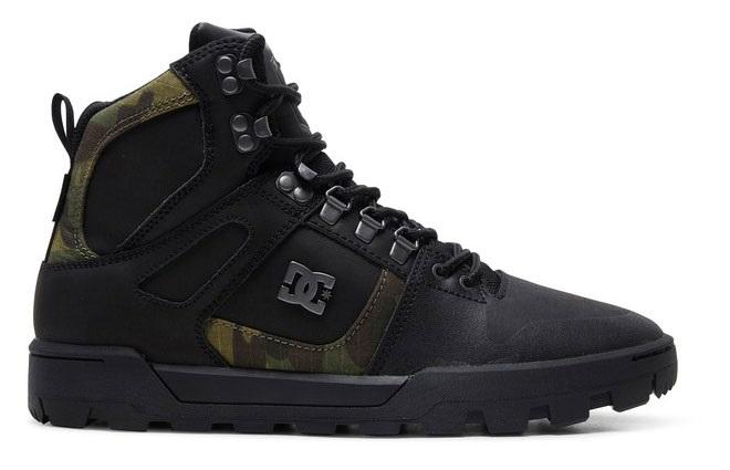 DC Pure High-Top WR Men's Winter Boots, UK 7 Black/Camo