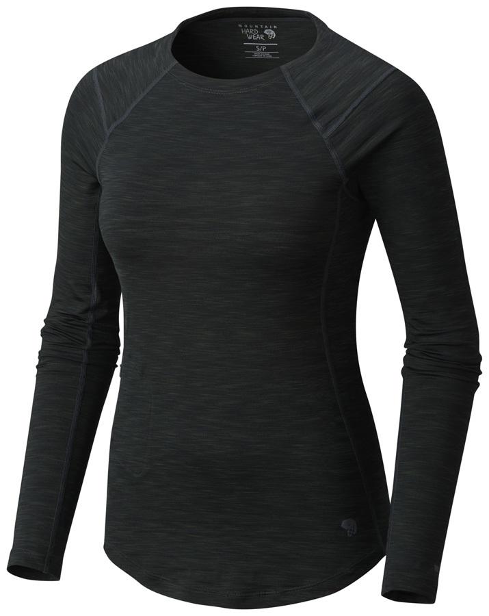 Mountain Hardwear Womens Mighty Stripe L, Stealth Grey