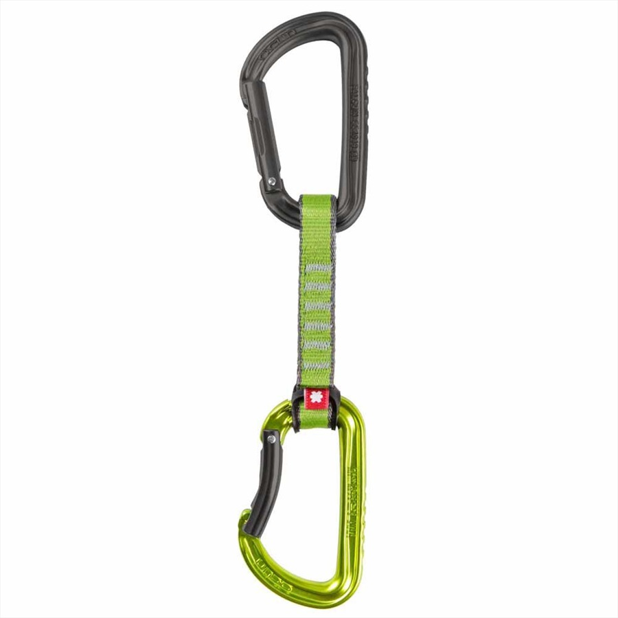 Ocun Falcon QD PA 16mm 10cm 5-pack Rock Climbing Carabiner, Green