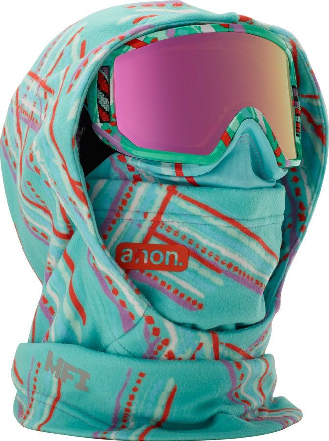 Anon Hooded Clava Anon MFI Only Kid's MFI Facemask, Flutter Teal