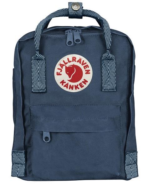 Fjallraven Kanken Mini Backpack, 7L Royal Blue/Goose Eye