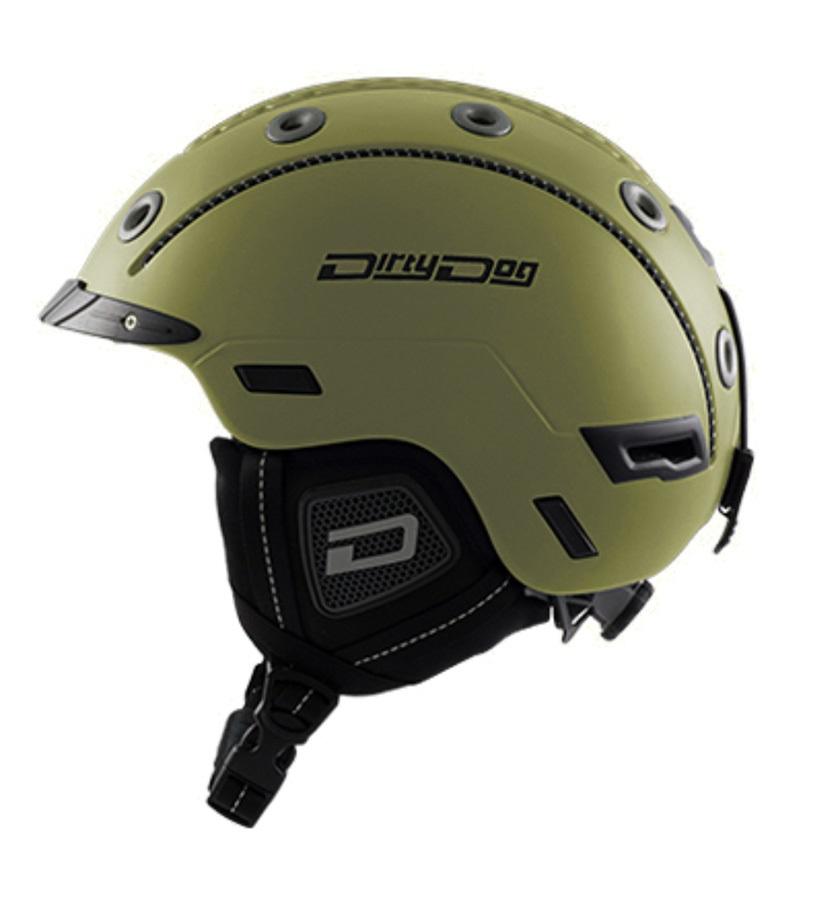 Dirty Dog Saturn Snowboard/Ski Helmet, M Matte Dark Khaki
