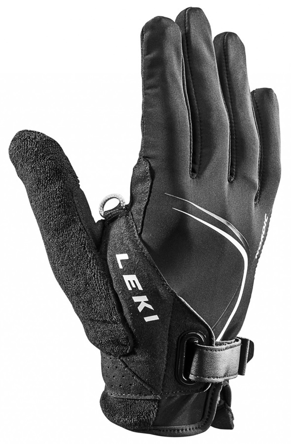 Leki Nordic Lite Shark Long Nordic/Trekking Pole Gloves, Medium Black