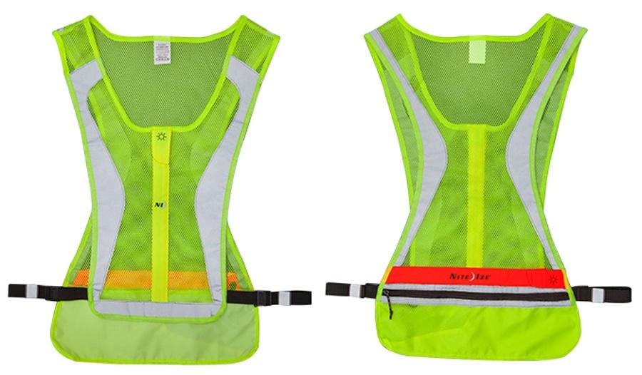 Nite Ize LED Run Vest High Visibility Safety Bib, S/M Yellow
