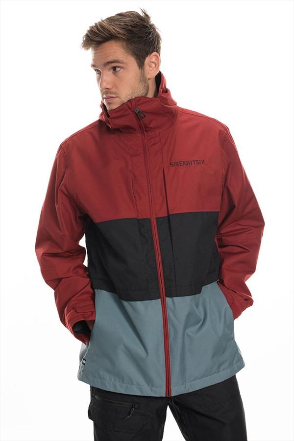 686 Smarty 3-in-1 Form Ski/Snowboard Jacket, XL Rusty Red Colourblock