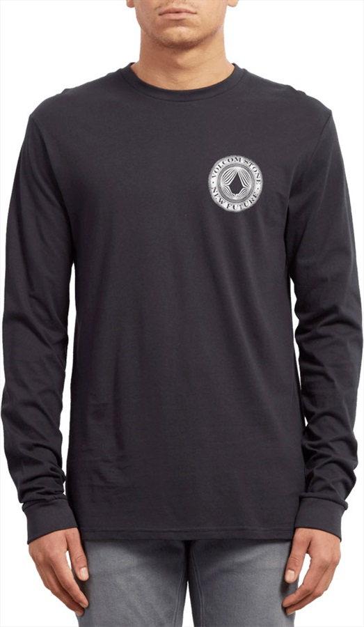 Volcom Volcomsphere Basic Long Sleeve T-Shirt, M Black