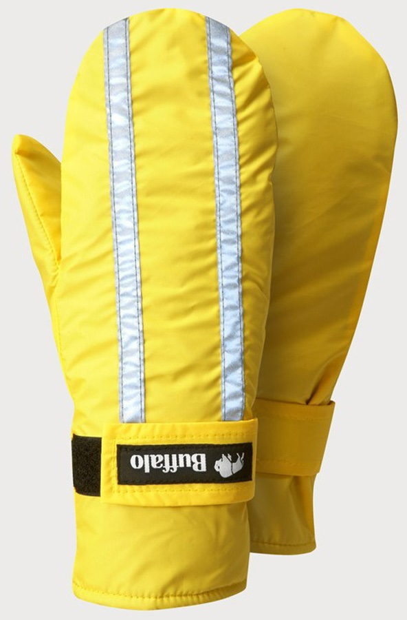 Buffalo Adult Unisex Hi Viz Mitts Pile Lined Mittens - M, Yellow
