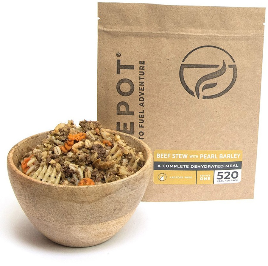 Firepot Beef Stew & Pearl Barley Camping Food, Compostable Pouch