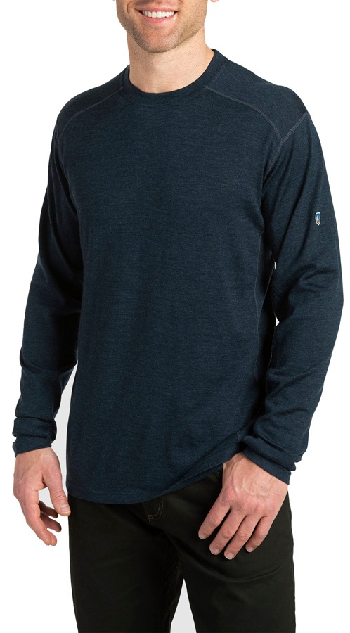 Kuhl Skar Regular Merino Crew Longsleeve Shirt, S Pirate Blue