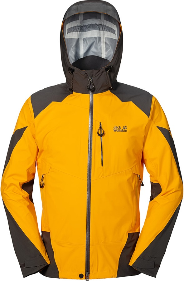 Jack Wolfskin Gravity Flow Texapore Waterproof Jacket, M, Yellow
