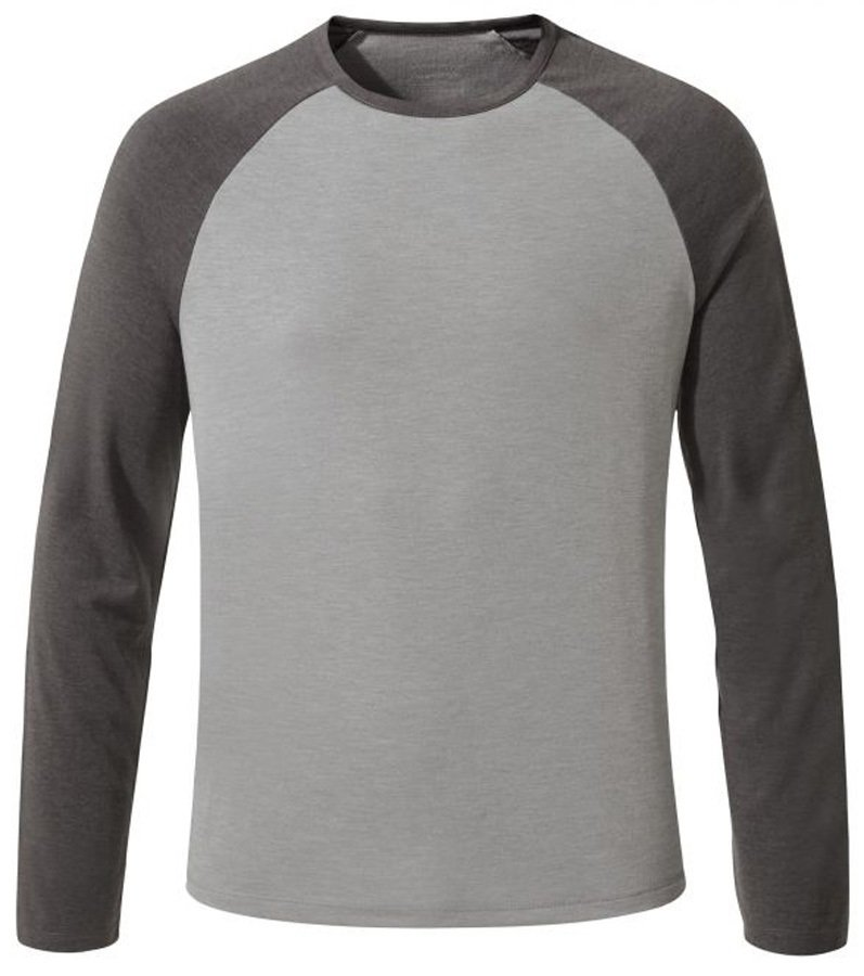 Craghoppers Adult Unisex First Layer Long Sleeve Tee: S, Grey & Black