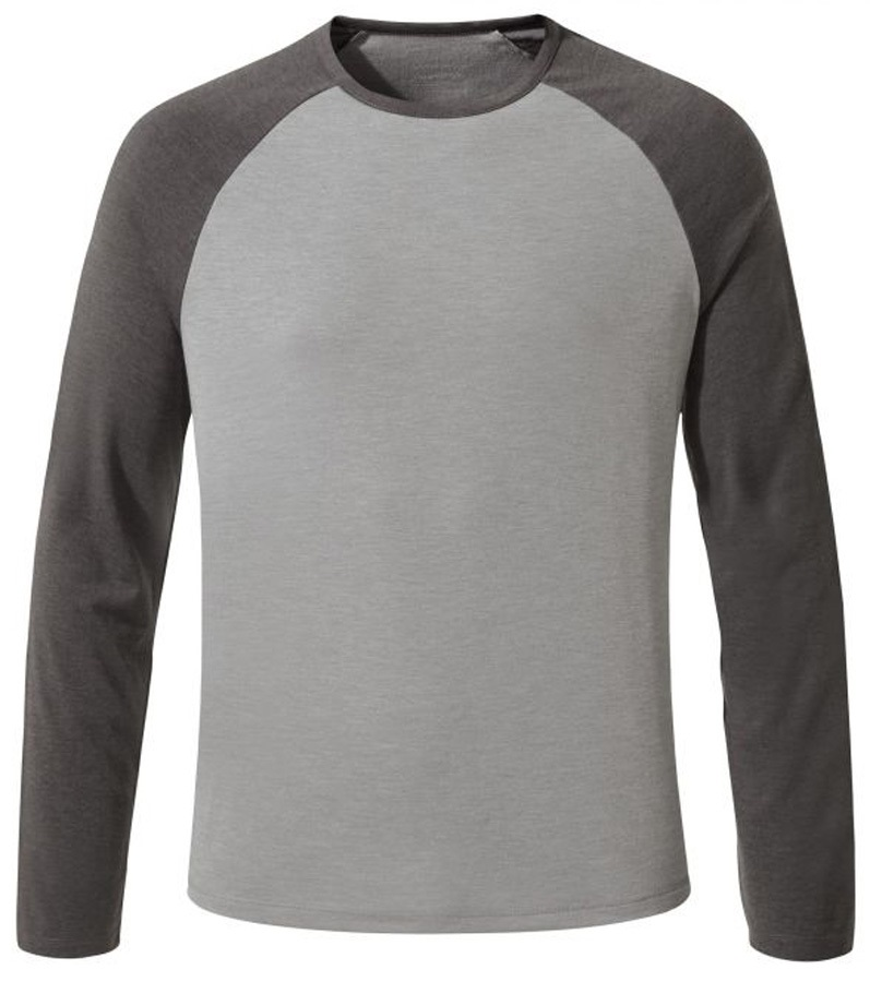 Craghoppers Adult Unisex First Layer Long Sleeve Tee: L, Grey & Black