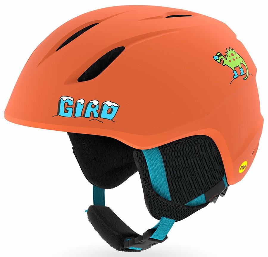 Giro Launch MIPS Kids Ski/Snowboard Helmet, XS Deep Orange Dino Snow