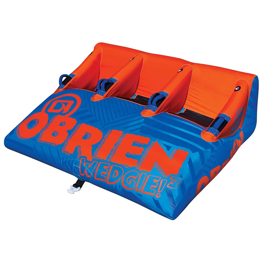 O'Brien Wedgie Seated Towable Inflatable Tube, 3 Rider Blue Orng 2019