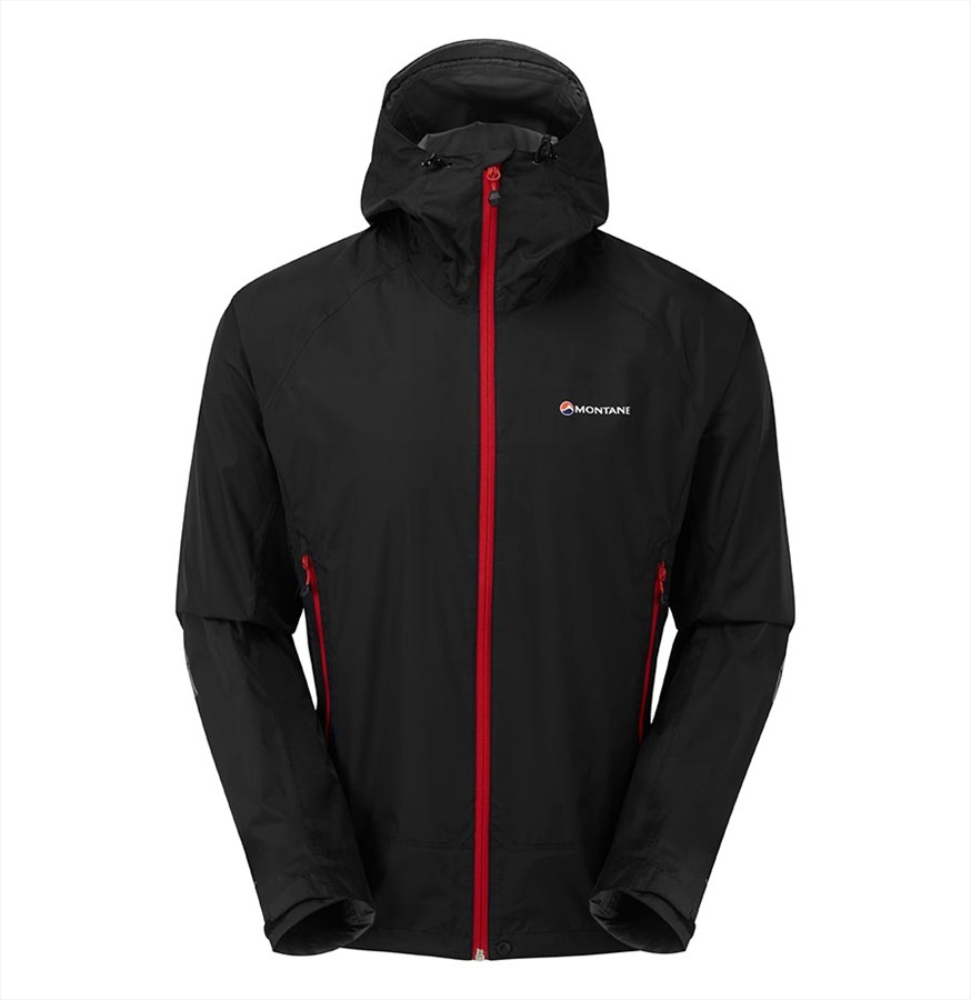 Montane Atomic Mountain Waterproof Shell Jacket, L Black