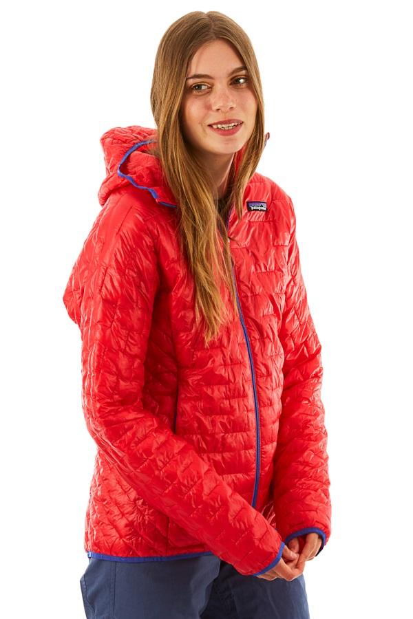 Patagonia Women's Micro Puff Hoody Insulated Jacket, UK 14 Maraschino