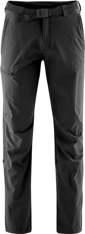 Maier Sports Mens Nil Roll Up Hiking Trousers, S Black Regular