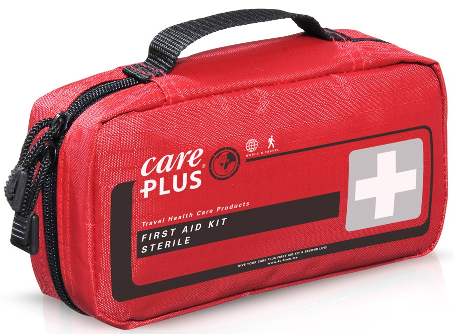 Care Plus Sterile First Aid Kit Backpacking Medical Kit, 57 Pcs Red