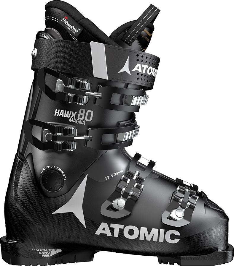 Atomic Hawx Magna 80 Men's Ski Boots, 29/29.5 Black/Anthracite 2020
