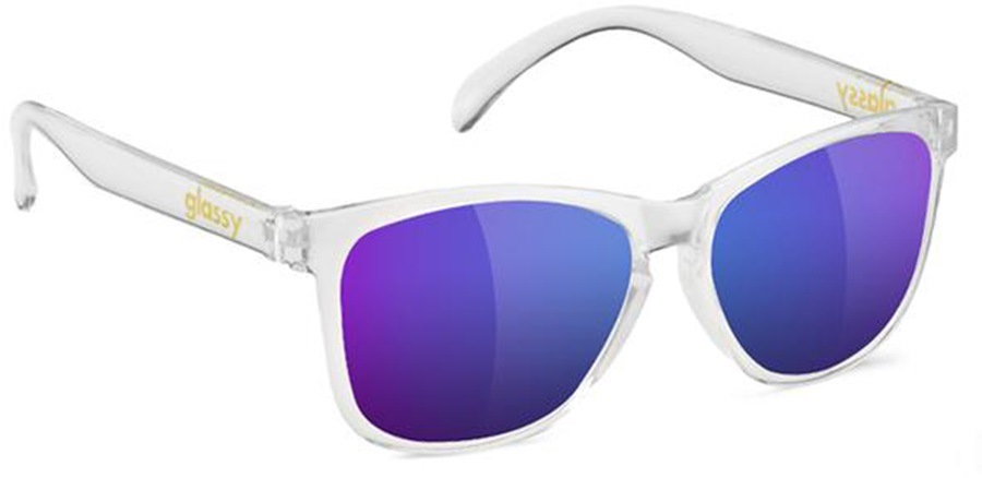Glassy Sunhaters Deric Blue Mirror Lens Sunglasses, Clear
