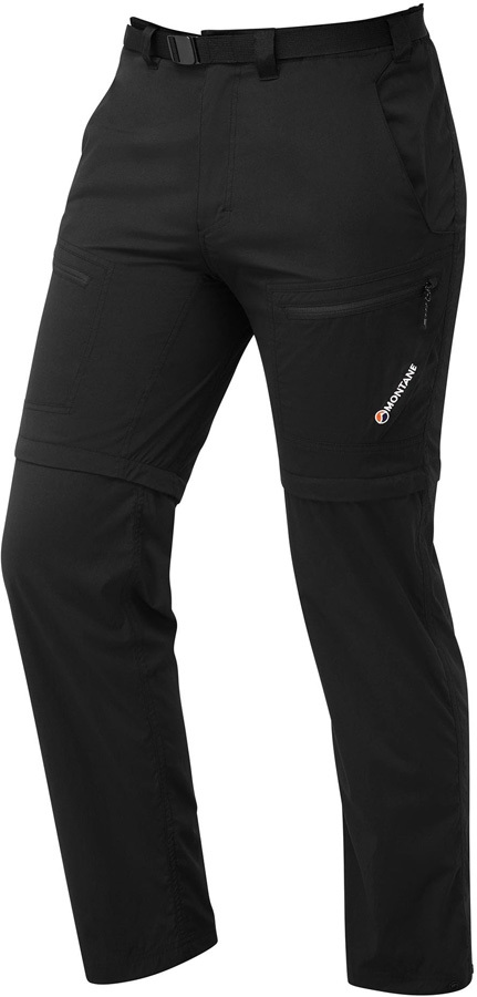 Montane Terra Convertible Hiking Trousers & Shorts, S Black