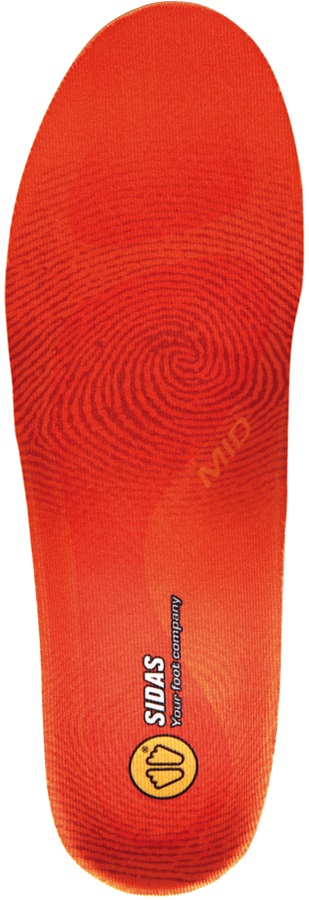 Sidas Winter 3Feet Mid Ski/Snowboard Boot Insoles, M Orange