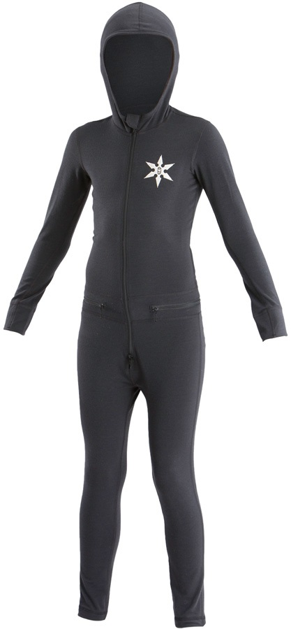 Airblaster Youth Ninja Thermal One Piece Suit, S Black
