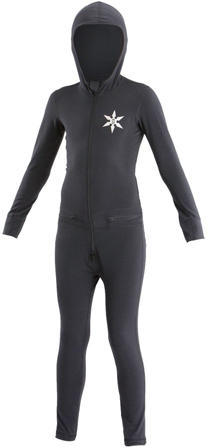 Airblaster Youth Ninja Thermal One Piece Suit, M Black