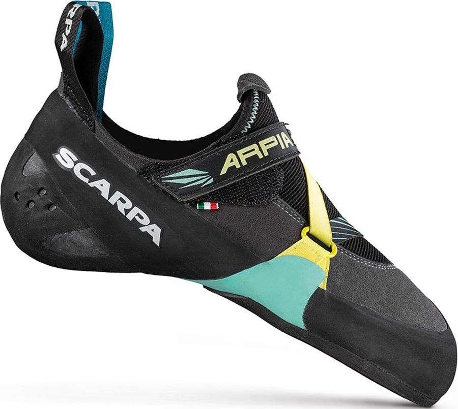 Scarpa Arpia Womens Rock Climbing Shoe, UK 7 | EU 41 Black/Aqua