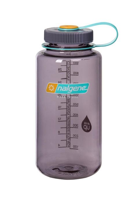 Nalgene Wide Mouth Tritan Water Bottle, 32oz Aubergine