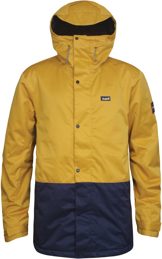 Planks Feel Good Ski/Snowboard Jacket, XS Mustard