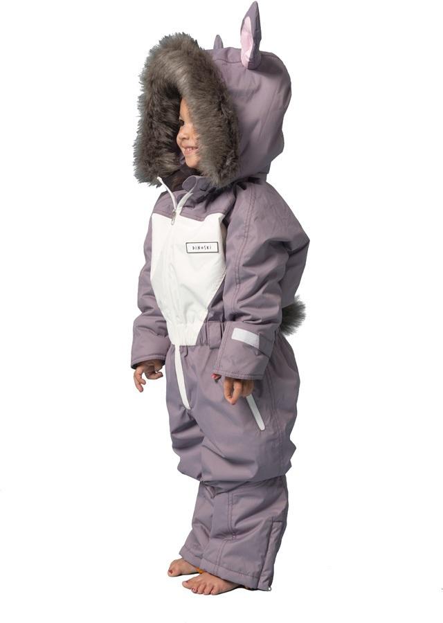 b0e6a52a3 Dinoski Hop Ski Suit Kids' Insulated Snow Onesie 6-7 Years Grey Lilac
